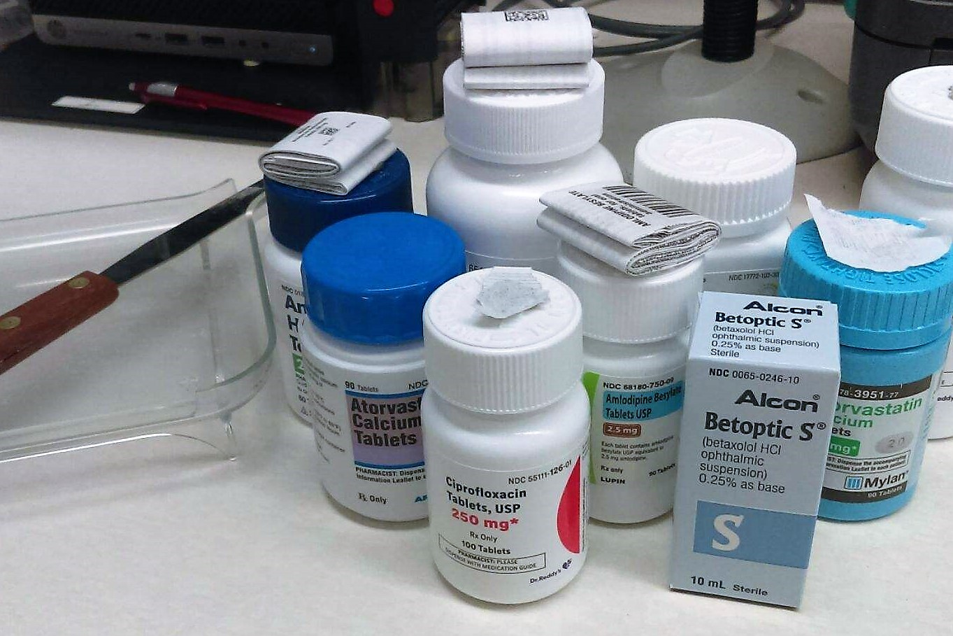 multiple medications and counting tray.jpg